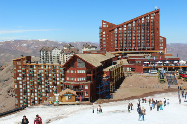 valle nevado no fim da neve